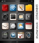 app icons on a black background | Shutterstock .eps vector #235634845