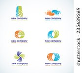 mosaic logo vector collection | Shutterstock .eps vector #235639369