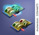 magic book.  vector...