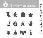 christmas icons | Shutterstock .eps vector #235647391