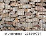 detail of a gabion   grid... | Shutterstock . vector #235649794