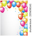 abstract colored balloons border | Shutterstock .eps vector #235658161