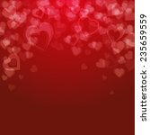 valentine's day background ... | Shutterstock .eps vector #235659559