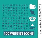 internet  website icons set ... | Shutterstock .eps vector #235665817