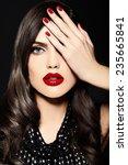 high fashion look.glamor... | Shutterstock . vector #235665841