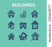 buildings  houses icons set ... | Shutterstock .eps vector #235665877