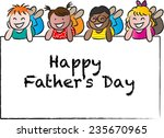happy fathers day | Shutterstock .eps vector #235670965