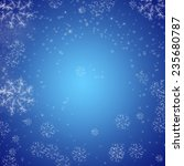 christmas blue background  | Shutterstock . vector #235680787