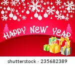 happy news year wallpaper... | Shutterstock .eps vector #235682389