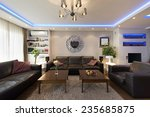 apartment interior with led... | Shutterstock . vector #235685875