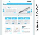 website interface template... | Shutterstock .eps vector #235688689