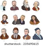 world scientists | Shutterstock .eps vector #235690615