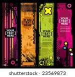 grunge stylish banners with... | Shutterstock .eps vector #23569873