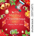 greeting card with christmas... | Shutterstock . vector #235716571
