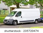 Small photo of BRUSSELS, BELGIUM - AUGUST 9, 2014: White cargo van Citroen Jumpy at the city street.