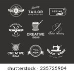 set of tailor labels  emblems... | Shutterstock .eps vector #235725904