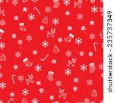 retro style seamless christmas... | Shutterstock .eps vector #235737349