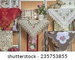 needlework. openwork napkins ...   Shutterstock . vector #235753855