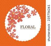 floral  design   vector... | Shutterstock .eps vector #235756261