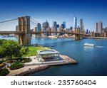 brooklyn bridge in new york... | Shutterstock . vector #235760404