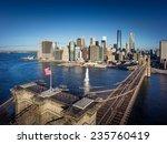 Brooklyn Bridge In New York...