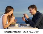 boyfriend requesting hand of... | Shutterstock . vector #235762249