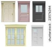 collection of five vector doors ... | Shutterstock .eps vector #23576344