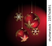 christmas decoration in red  ... | Shutterstock .eps vector #235763851