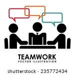teamwork  design   vector... | Shutterstock .eps vector #235772434