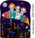 cyberpunk illustration of kids...   Shutterstock .eps vector #235773187