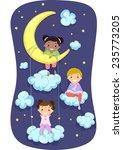 illustration of kids in pajamas ... | Shutterstock .eps vector #235773205