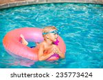 young kid having fun in the... | Shutterstock . vector #235773424