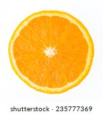 orange fruit isolated on white... | Shutterstock . vector #235777369