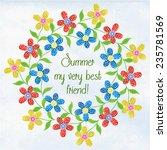 wreath of intertwined summer... | Shutterstock .eps vector #235781569