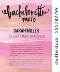 bachelorette party invitation... | Shutterstock .eps vector #235782799
