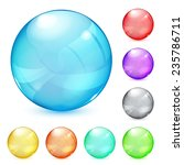 set of opaque glass spheres in... | Shutterstock .eps vector #235786711