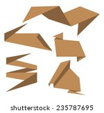 origami paper design | Shutterstock .eps vector #235787695
