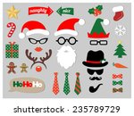 christmas photo booth props | Shutterstock .eps vector #235789729