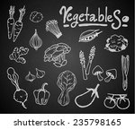 set of chalk hand drawing... | Shutterstock .eps vector #235798165