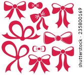 set of different decorative red ...