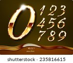 golden stylish  digits  with... | Shutterstock .eps vector #235816615