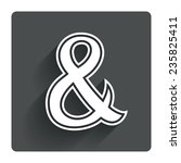 ampersand sign icon....