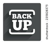 backup date sign icon. storage...