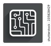 circuit board sign icon....