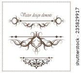 calligraphic elements   black... | Shutterstock .eps vector #235829917