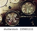 vintage aircraft cockpit detail | Shutterstock . vector #235831111