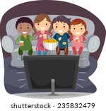 illustration of kids eating... | Shutterstock .eps vector #235832479