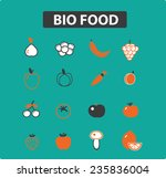 orange food icons  signs ... | Shutterstock .eps vector #235836004
