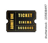 admit one ticket icon isolated | Shutterstock . vector #235838497