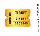 admit one ticket icon isolated | Shutterstock . vector #235838557